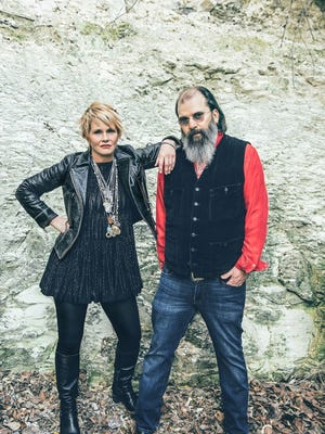 Shawn Colvin and Steve Earle bring their harmonies to the River Stage in Wiggins Park Friday as part of the XPoNential Music Festival.