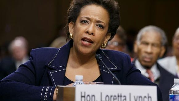 Loretta Lynch testifies before the Senate Judiciary Committee recently.