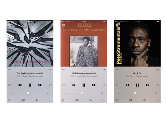 This image shows three screen shots from Apple Music, which I have come to prefer over Amazon's similar service. Beyond a few nicer features, Apple has a massive catalog. It features plenty of El-P, RJD2 and Pete Rock, as shown here.