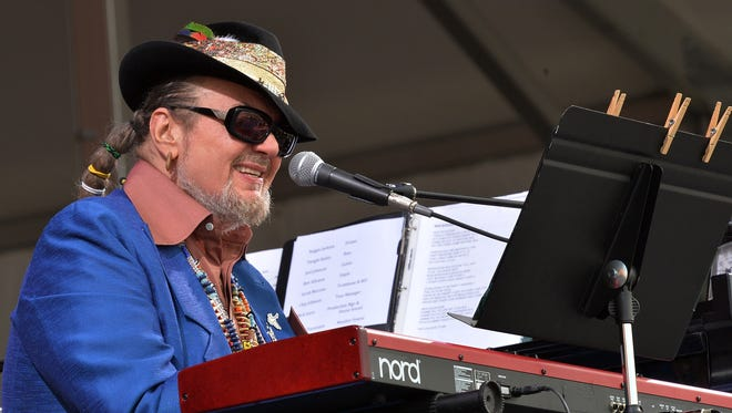 Dr. John performs during the New Orleans Jazz & Heritage Festival on April 26, 2013 in New Orleans.