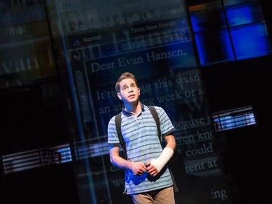 "Ben Platt stars in ""Dear Evan Hansen,"" now on Broadway."