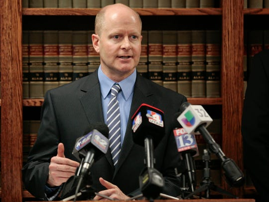 County prosecutor Chad Grunander speaks about Jerrod