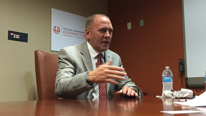 Congressman-elect Clay Higgins visits The Daily Advertiser on Tuesday to discuss his plans for Washington.