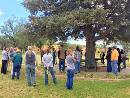 The group also toured the grounds of Fort Stanton Historic