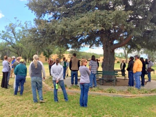 The group also toured the grounds of Fort Stanton Historic Site with historian Lynda Sanchez.