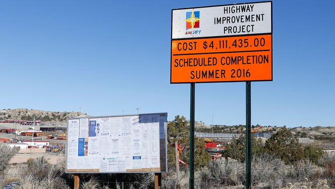 The east Aztec arterial route construction site is pictured on Tuesday in Aztec.