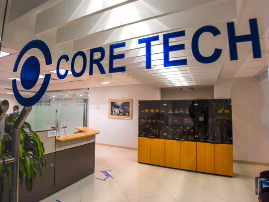 The entrance to the office of Core Tech International