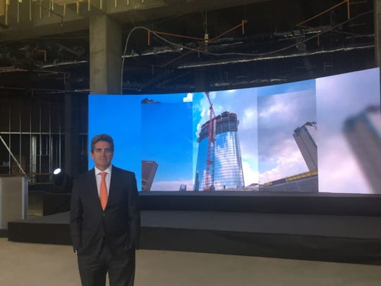 Jeff Soffer attends the topping-out ceremony for the
