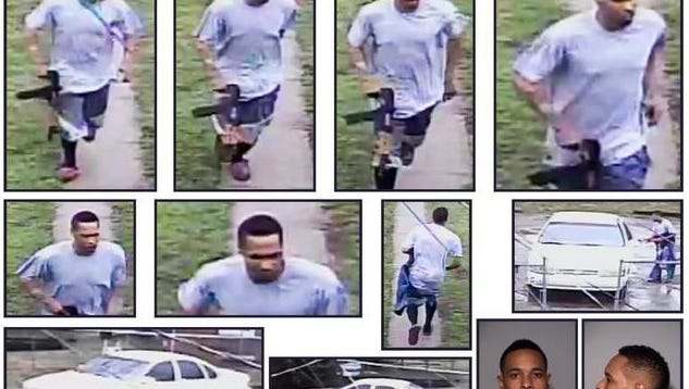 """Securtiy footage of the man suspected of shooting IFD veteran Michael """"Kevin"""" Gill Sunday afternoon on the north side."""
