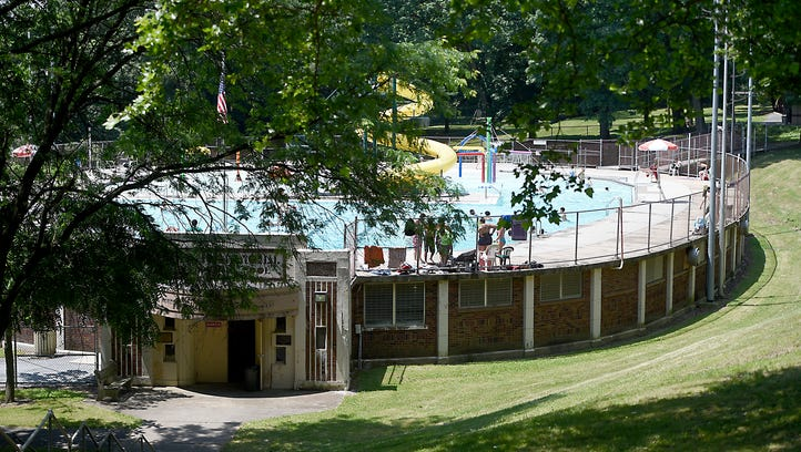 Why aren't people swimming at the Coleman Park pool?