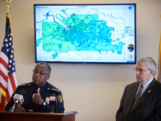 Montgomery Police Chief Ernest Finley, Jr., and Montgomery