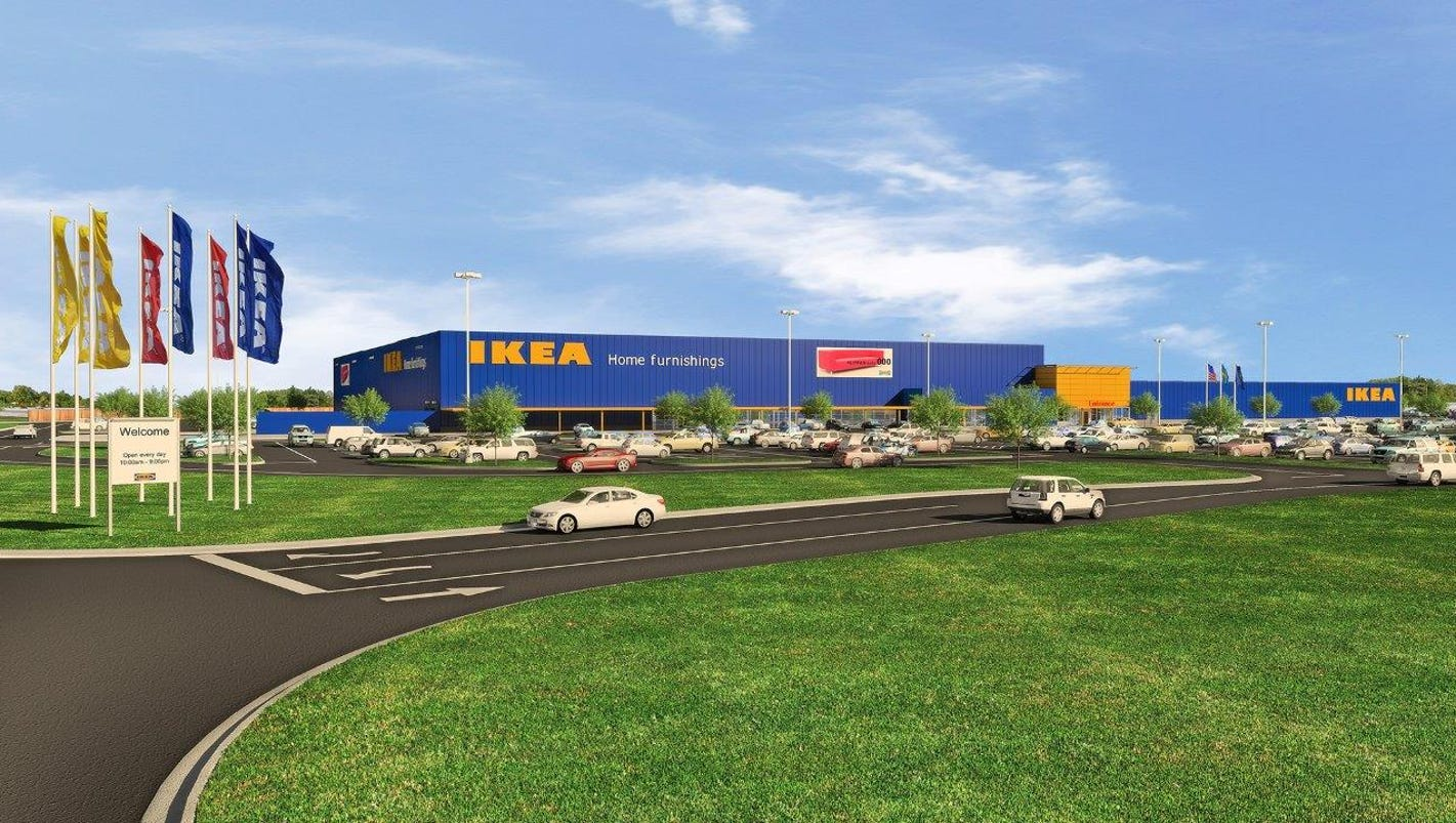 fishers ikea on track to open in fall 2017. Black Bedroom Furniture Sets. Home Design Ideas