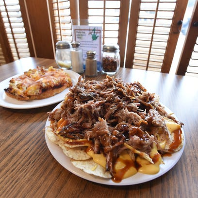 The pulled pork nachos at Deano's Pizza and Big Zeke's