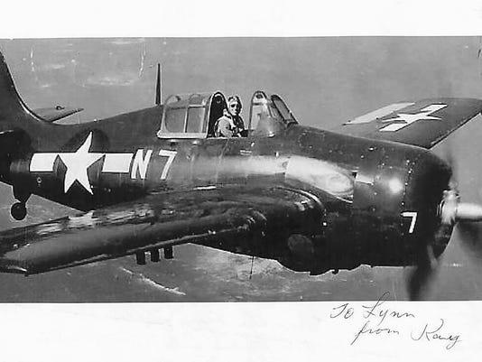 Ray Kerr flies in World War II