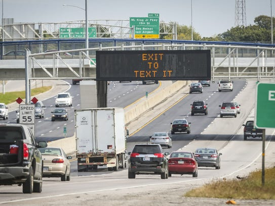 """An Iowa Department of Transportation's """"Message Monday"""""""