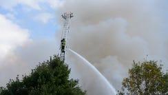 Fire scene at the Covington Village condominium complex
