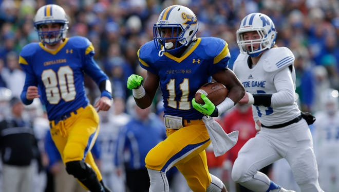 Catholic Memorial's Jaylen Campbell has gained 537 yards over the last three weeks.