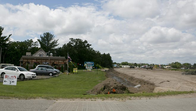 Paradise Restaurant near the roundabout construction in Plover on Monday, July 13, 2015.