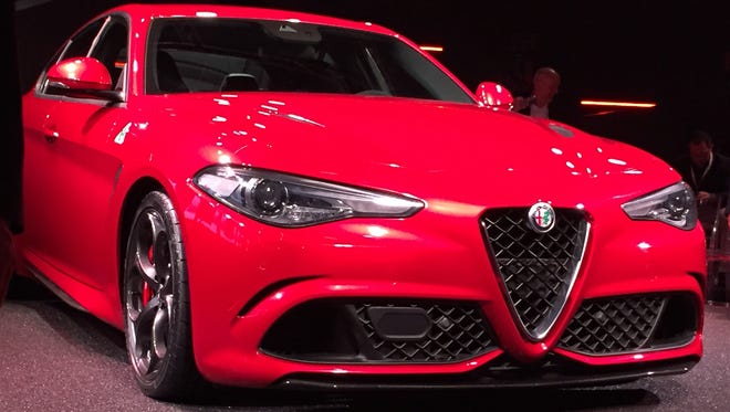 The Alfa Romeo Giulia is unveiled at the Alfa Romeo Historical Museum in Milan Italy on June 24, 2015