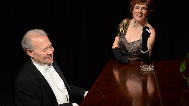 """Lou Trapani as Max and Barbara Rankin as Norma Desmond are shown in a scene from Up In One Production's """"Sunset Boulevard"""" at the Center for Performing Arts in Rhinebeck."""
