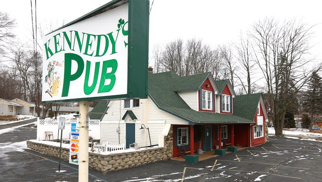 Kennedy's Pub in Budd Lake, a fixture for many years on Route 46 have permanently closed. February 9, 2018. Budd Lake, NJ.