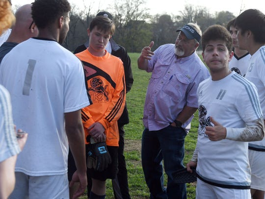 The King's Academy soccer coach Brent Frazier talks