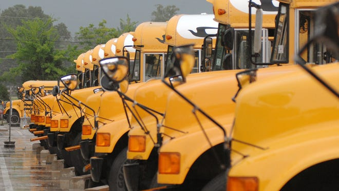 Jackson Public School buses are shown in this file photo.