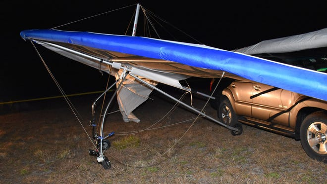 Tomas Banevicius, 40, was killed during a hang-gliding training session at Dunnellon Airport in Florida on Tuesday, according to the Marion County Sheriff's Office, which released this associated photo.