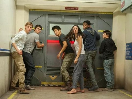 "The ""Maze Runner"" cast returns for the second installment,"