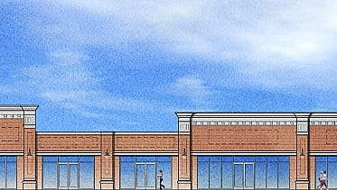 A rendering of a new shopping center planned for 930 Route 70 West.