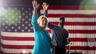 LeBron James campaigned with Hillary Clinton in Cleveland last month.