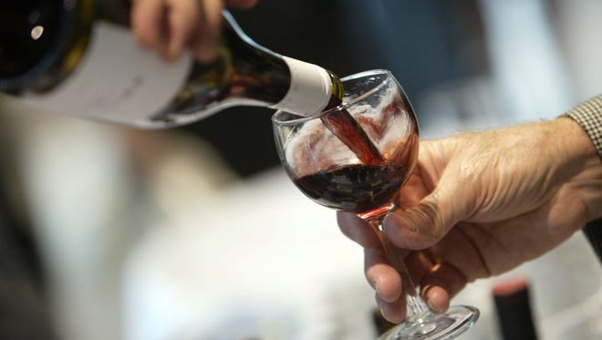 A glass of wine is poured in this Advertiser file photo.
