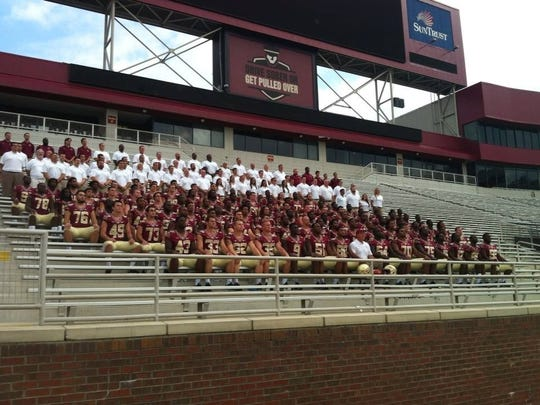 FSU's team photo from Sunday morning inside Doak Campbell Stadium.