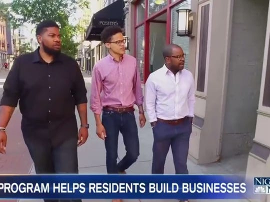 Allen Woods, William Thomas and Derrick Braziel, founders of Mortar, share information with NBC News about their organization and what it provides to Cincinnati's startup ecosystem.