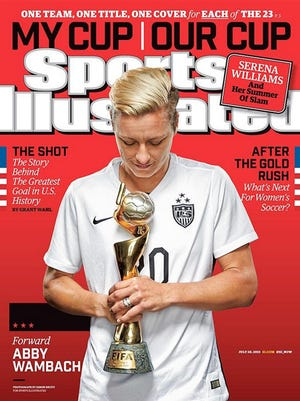 Abby Wambach on the cover of Sports Illustrated
