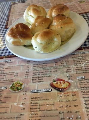 Gio-Joe's garlic knots are coated in coated in garlic, olive oil and a pinch of red pepper flakes.