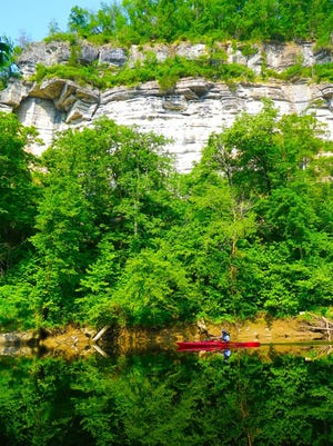 Paddling on the Kentucky River.