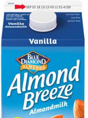 Almond Breeze almond milk has been recalled