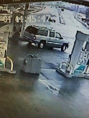 A security still from the Fort Wright BP gas station shows the SUV.