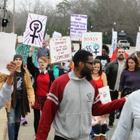 Clemson march draws 500 in support of women's rights