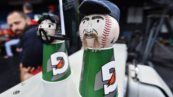 USP MLB: KANSAS CITY ROYALS AT CLEVELAND INDIANS S BBA CLE KC USA OH