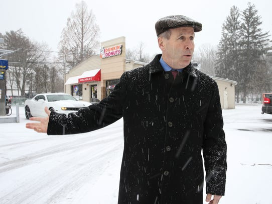 Stony Point Supervisor Jim Monaghan photographed outside a Dunkin Donuts in Stony Point on Wednesday, February 7, 2018.