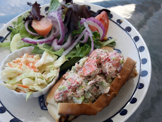 Lobster roll at the Boat House in Ossining.