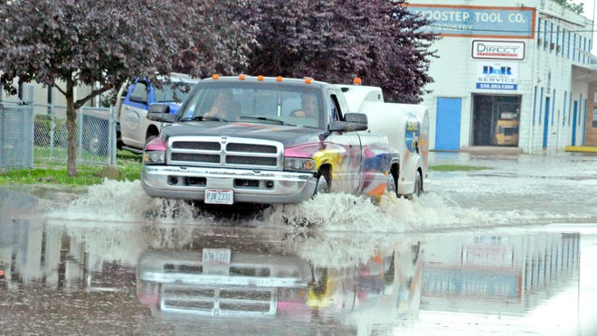 Flooding last June in Wayne County made traveling near the fairgrounds difficult.