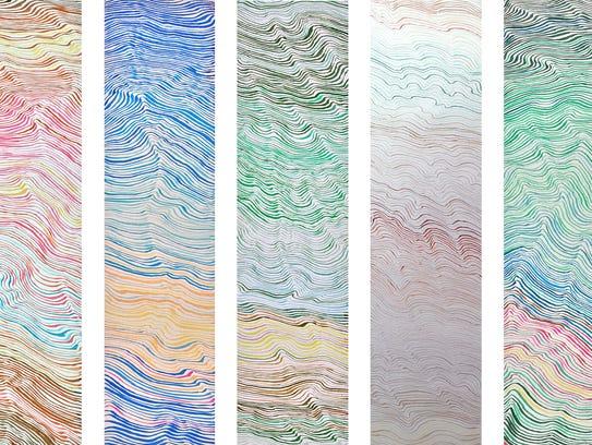 "Duncan McDaniel, ""Color Study,"" full series, 2018,"