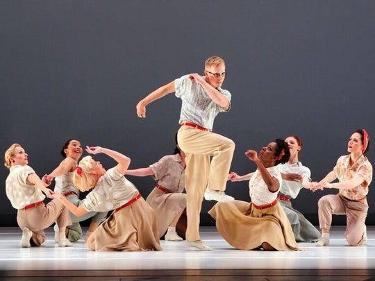 "Michael Trusnovec and the cast of Paul Taylor Dance's ""Company B."""