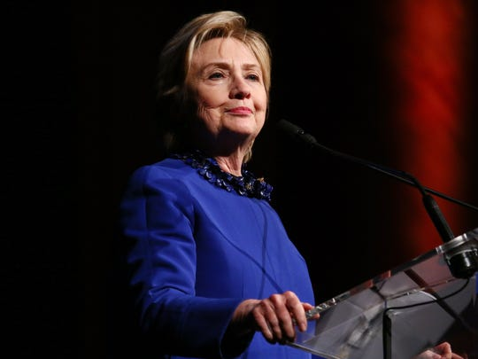 Former Secretary of State and WOV Honoree Hillary Clinton speaks at the Ms. Foundation for Women 2017 Gloria Awards on May 3, 2017 in New York.
