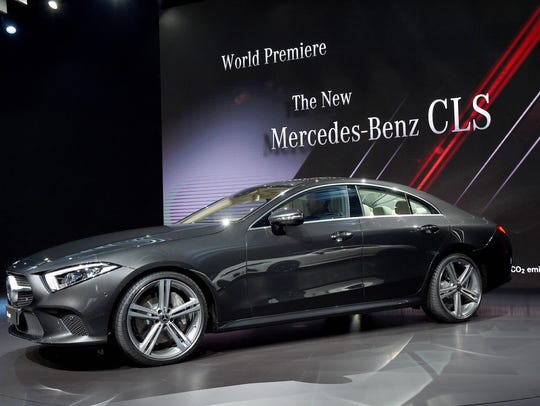 The 2019 Mercedes-Benz CLS is revealed during the LA