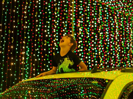 Experience the holiday majesty of lights without ever leaving your car. Perfect for families of small children.