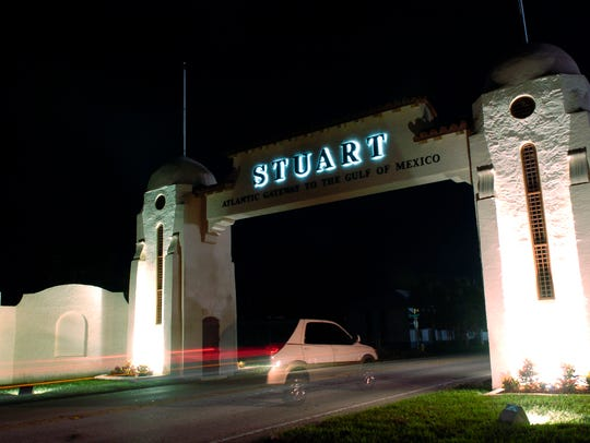 The arch along Dixie Highway in Jensen Beach has recently
